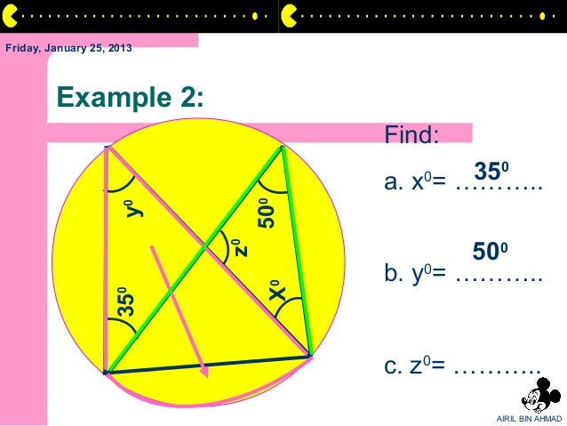 Friday, January 25, 2013         Example 2:                                      Find:                                    ...