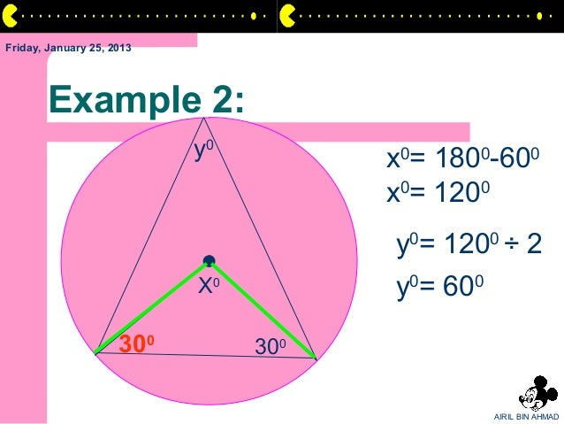 Friday, January 25, 2013       Example 2:                           y0         x0= 1800-600                               ...