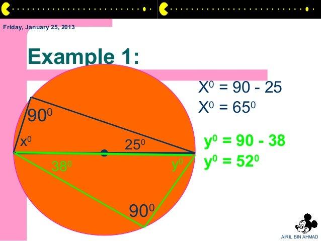 Friday, January 25, 2013       Example 1:                                         X0 = 90 - 25                            ...
