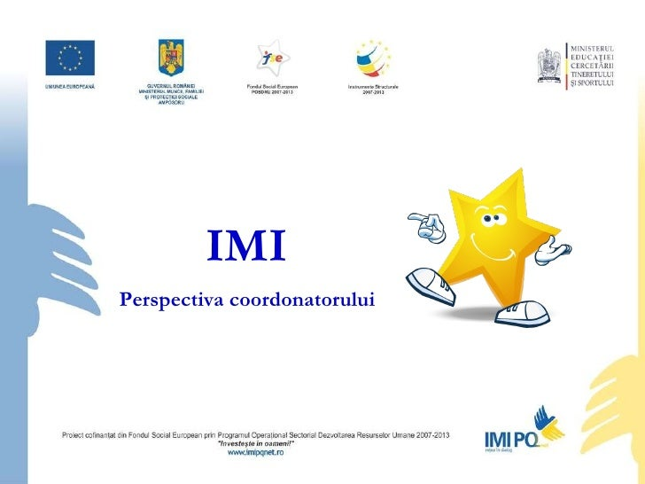 IMI Perspectiva coordonatorului