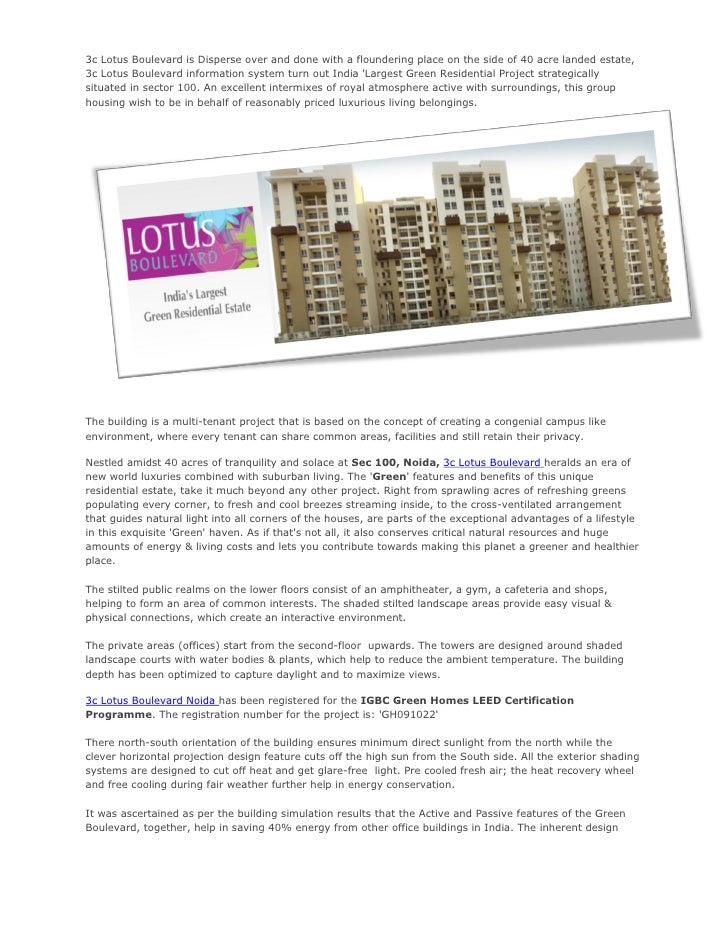 3c Lotus Boulevard is Disperse over and done with a floundering place on the side of 40 acre landed estate,3c Lotus Boulev...