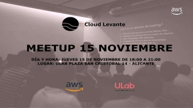 Victor Adsuar CEO Cloud Levante Arquitecto asociado AWS victor.adsuar@cloudlevante.com https://cloudlevante.com twitter: @...