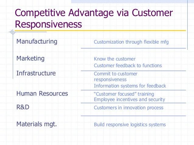 marketing and competitive advantage maintenance Asset management or maintenance, customer service or support:  customer service or support, it, marketing: competitive advantage, customer experience,.