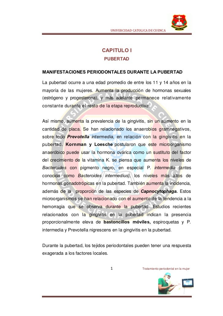 UNIVERCIDAD CATOLICA DE CUENCA                              CAPITULO I                                PUBERTADMANIFESTACIO...