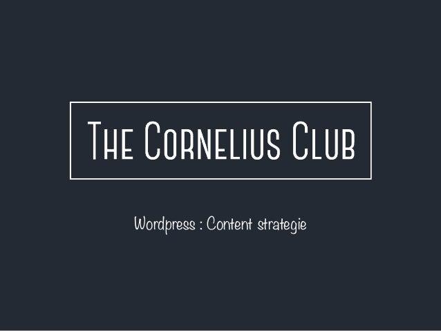 Wordpress : Content strategie