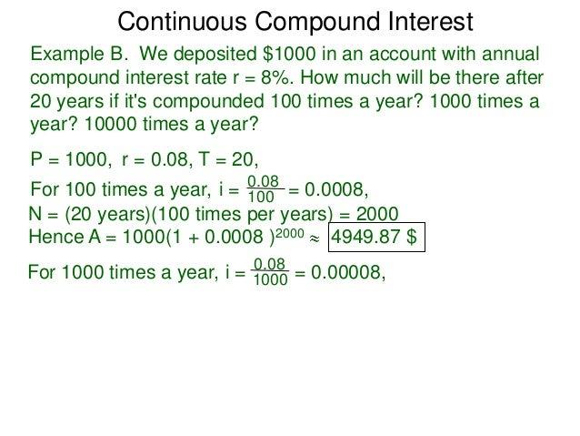 63 continuous compound interest