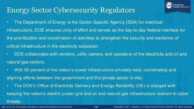 Energy Sector Cybersecurity OE's Cybersecurity Program • Strengthening energy sector cybersecurity preparedness • Coordina...