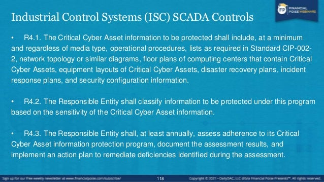 Industrial Control Systems (ISC) SCADA Controls • NIST Industrial Control 800-53 • AC-5 SEPARATION OF DUTIES • Control: Th...