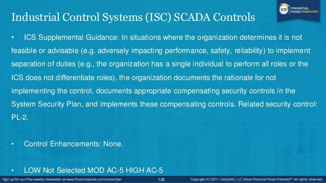 Industrial Control Systems (ISC) SCADA Controls • The Pipeline and Hazardous Materials Safety Administration (PHMSA) is a ...