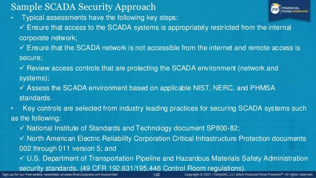 Sample SCADA Security Approach • Key areas are covered including:  Firewall and Networking  Ports and Services  Account...