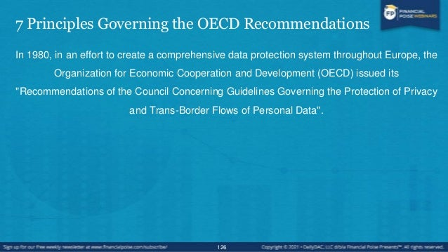 7 Principles Governing the OECD Recommendations • The seven principles governing the OECD's recommendations for protection...