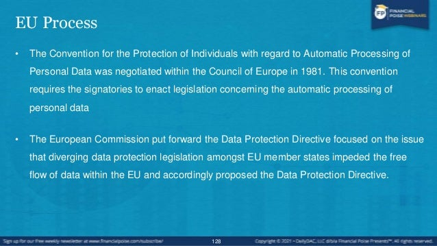 U.S. Process • United States privacy legislation tends to be adopted in response to when certain sectors or circumstances ...