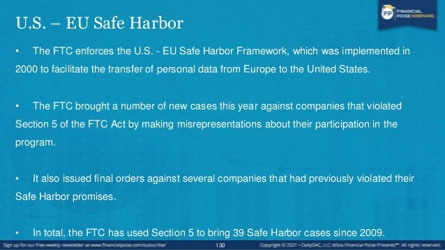Framework Elements • Strong obligations on companies handling Europeans' personal data and robust enforcement. • Clear saf...