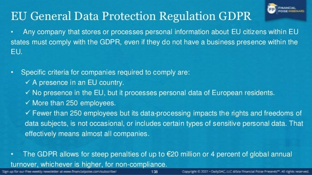 What Types of Privacy Data Does the GDRPR Protect? • Basic identity information such as name, address and ID numbers • Web...