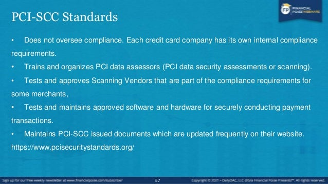 Payment Card Industry Data Security Standard PCI-DSS • PCI-DSS - Global data security standard that governs any business t...