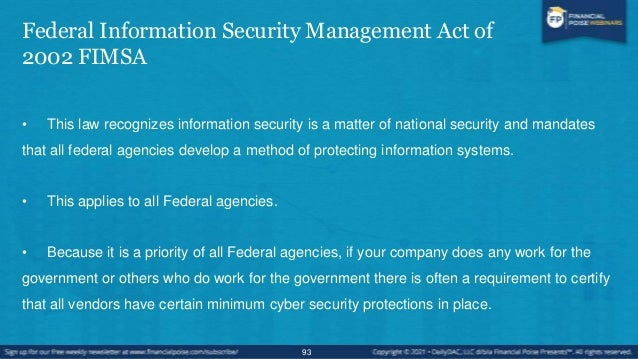 Safeguarding Defense Information and Cyber Incident Reporting • Applies to those doing government contract work. • Applies...