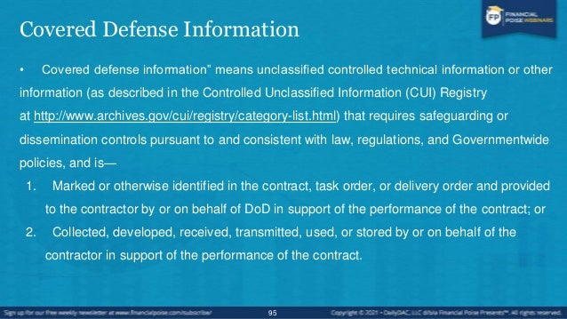 Incident Reporting Policy • Contractors and subcontractors are required to rapidly report cyber incidents directly to DoD ...