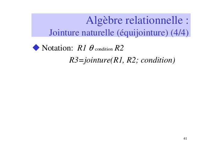 Algèbre relationnelle - M. Clouse - Librairie Eyrolles
