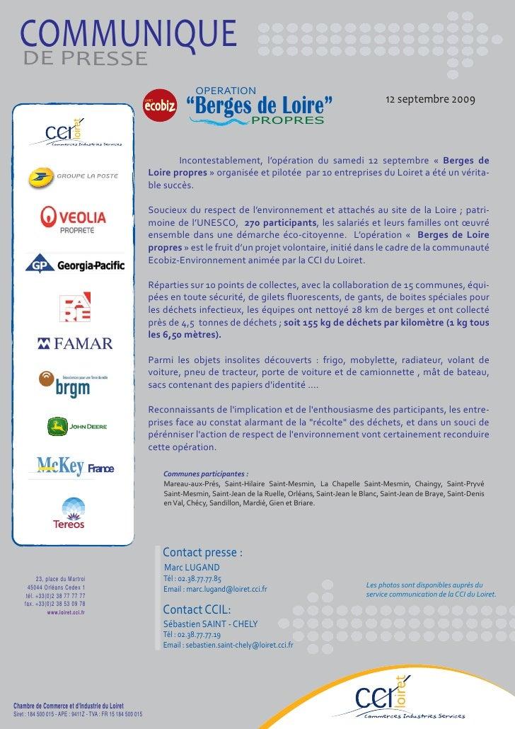 COMMUNIQUE   DE PRESSE                                                                            OPERATION               ...