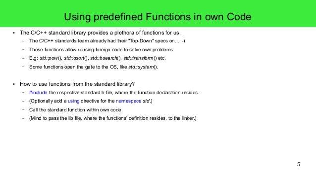 3) cpp procedural programming