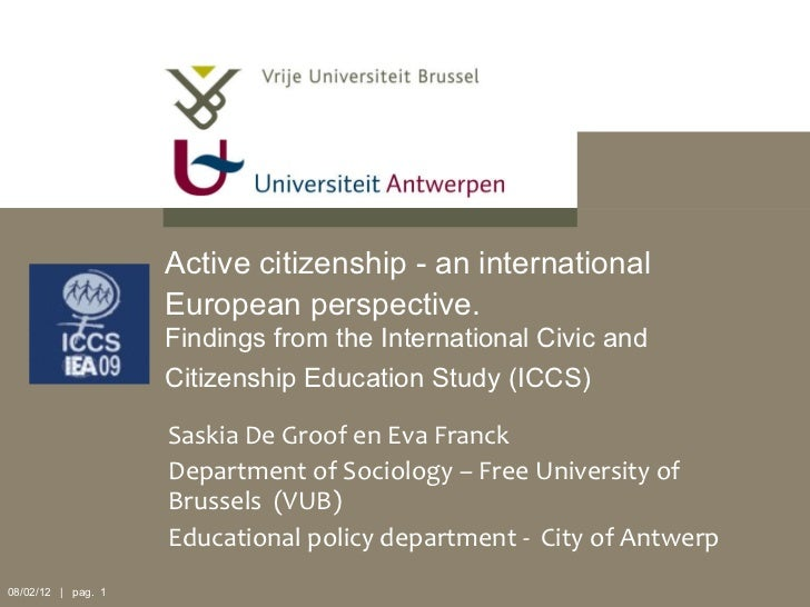 Active citizenship - an international European perspective.   Findings from the International Civic and Citizenship Educat...