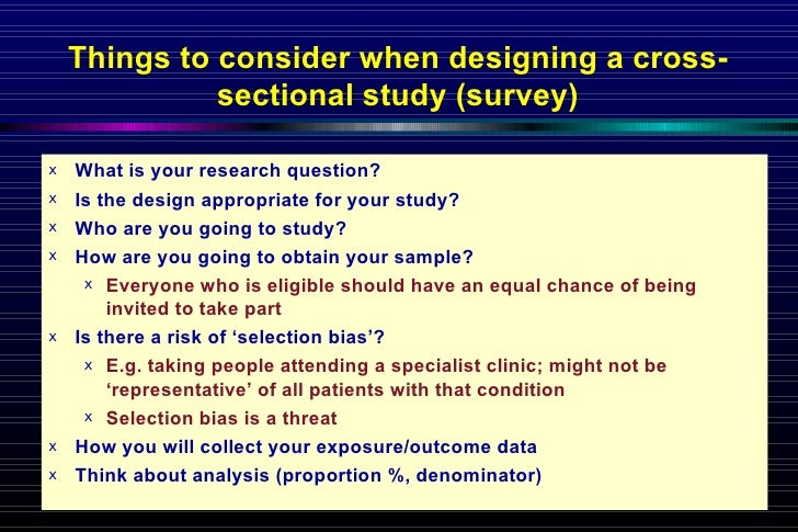 Cross-sectional Study Design - YouTube