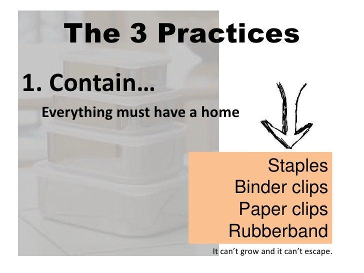 3 cs to declutter Slide 2