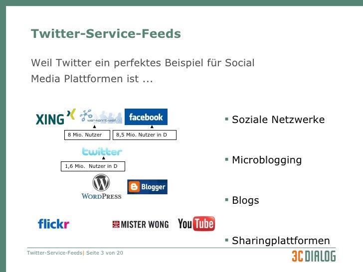 3C DIALOG Twitter als Serviceleistung Slide 3