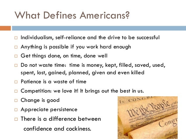 how does your generation define what it means to be an american today