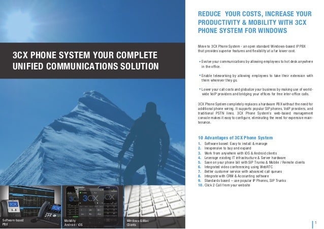 3cx phone system brochure