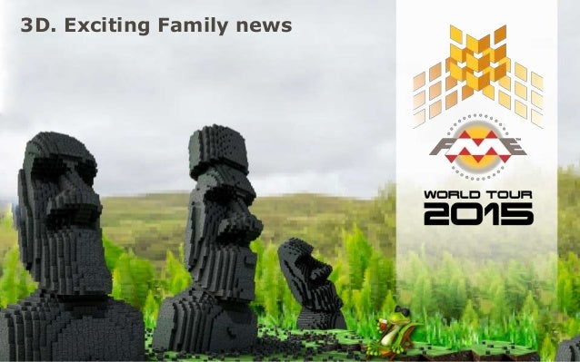 3D. Exciting Family news