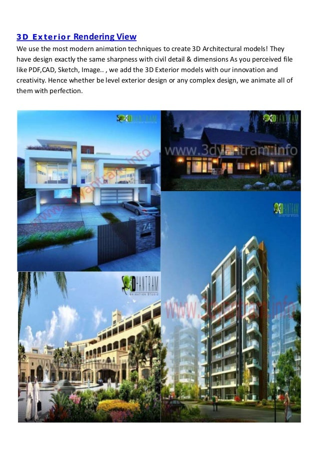 Visualisation 3d De Conception Architecturale Avec La Société De Sous