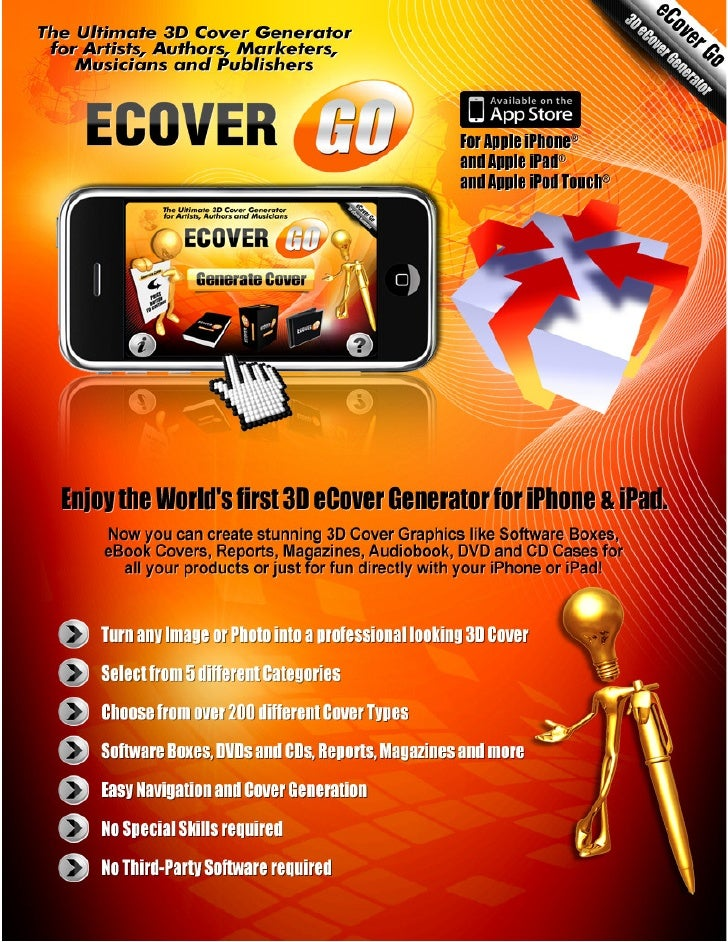 eCover Go – 3D Cover Software                    for iPhone, iPad and iPod Touch                                          ...