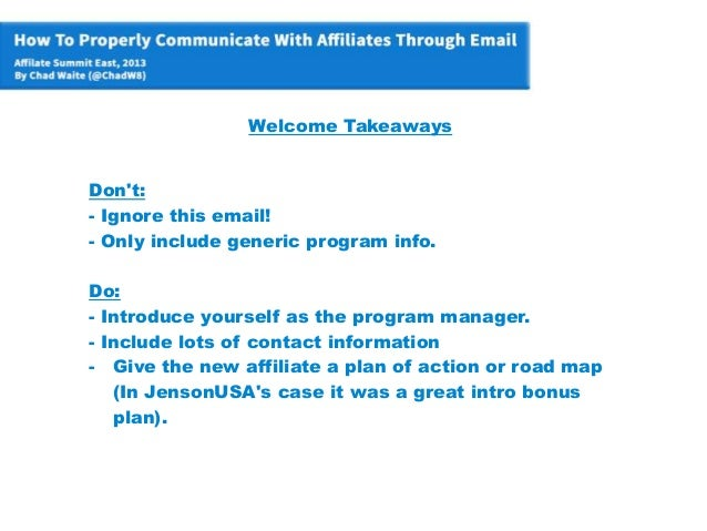 How To Properly Communicate With Your Affiliates Using Email