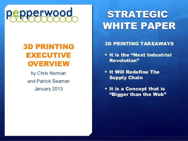 STRATEGIC                                                          WHITE PAPER                                            ...