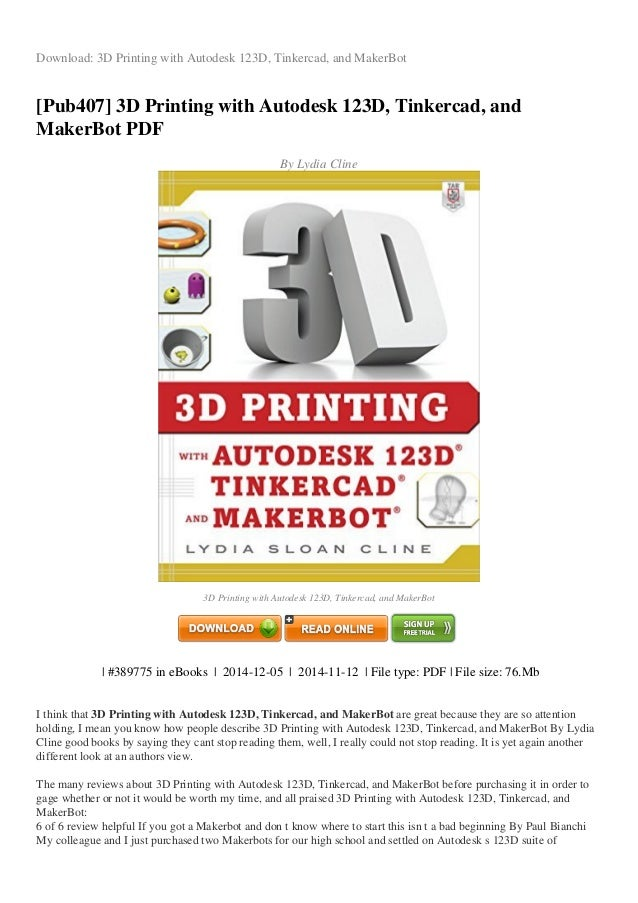 REVIEW 3d printing-with-autodesk-123d-tinkercad-and-makerbot-pdf-a8ecb
