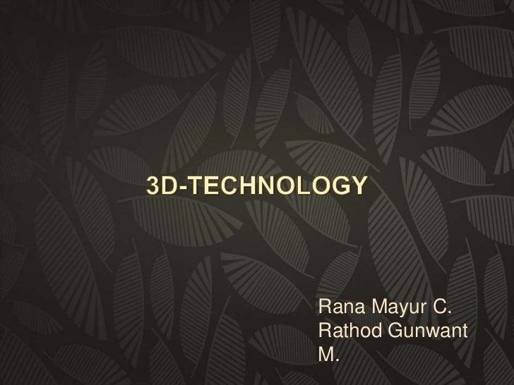 Rana Mayur C.Rathod GunwantM.