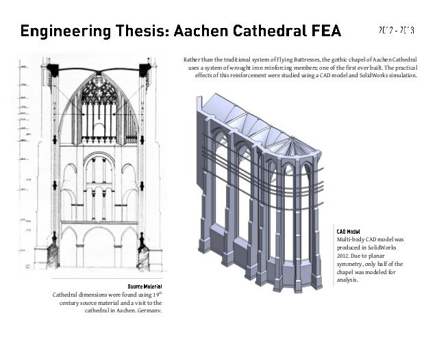 Rather than the traditional system of Flying Buttresses, the gothic chapel of Aachen Cathedral uses a system of wrought ir...