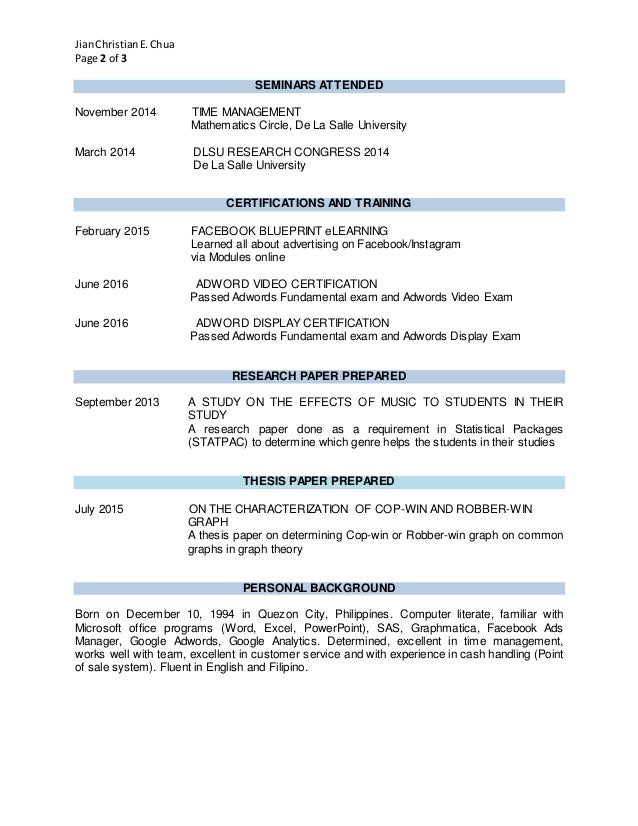 Google Adwords Resume Images - resume format examples 2018