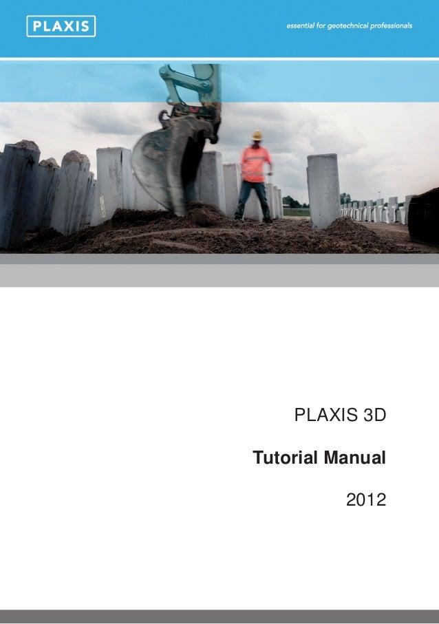 PLAXIS 3D Tutorial Manual 2012