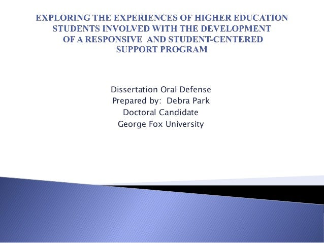 Dissertation Oral Defense Prepared by: Debra Park Doctoral Candidate George Fox University