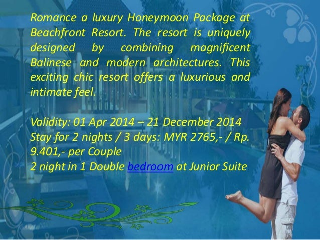 3D2N Bali Honeymoon Package At Niksoma Boutique Beach Resort Leg