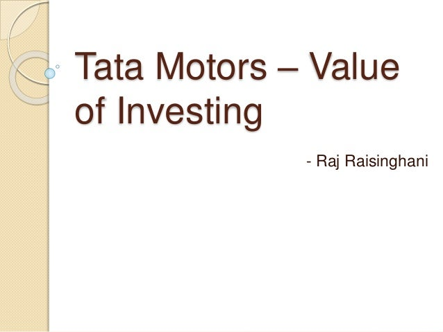 analysis of tata motors essay Swot analysis of tata motors s: the tata ace is cheaper than any four-wheeled commercial vehicles in india, easier to maneuver, and quieter, safer, faster than the three-wheeled vehicles, which perfectly satisfy the customer need on a large scale, and it already achieved a great market response.