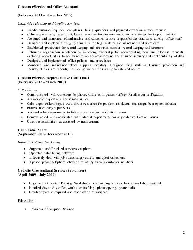 csr resume for linkedin