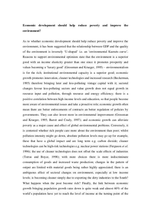 extended essay on sustainable development 8 economic development
