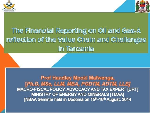 1: NATURAL GAS VALUE CHAIN IN TANZANIA