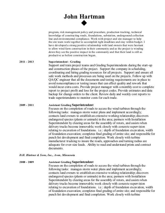 Hartman, John - 2016 Resume