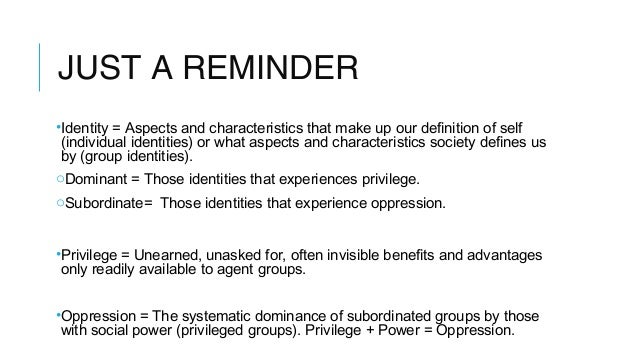 A description of race gender ability ethnicity class and sexuality matter