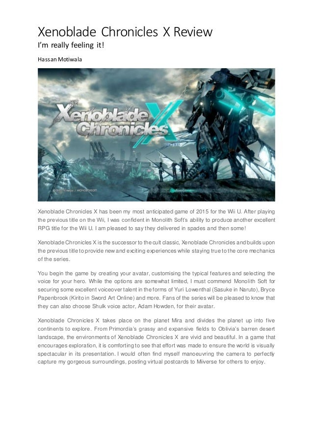 Xenoblade chronicles x review xenoblade chronicles x review im really feeling it hassan motiwala xenoblade chronicles x gumiabroncs Image collections