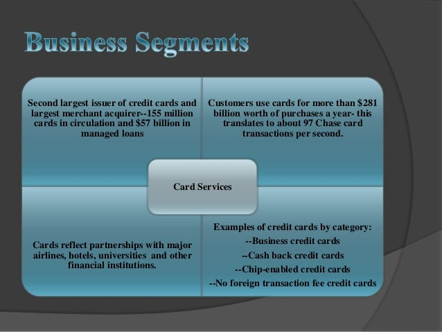Jpmorgan chase analysis projectwc credit cards card services 25 reheart Choice Image